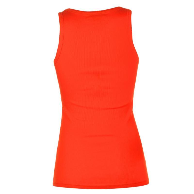 Miso Ribbed Vest Womens Orange.com