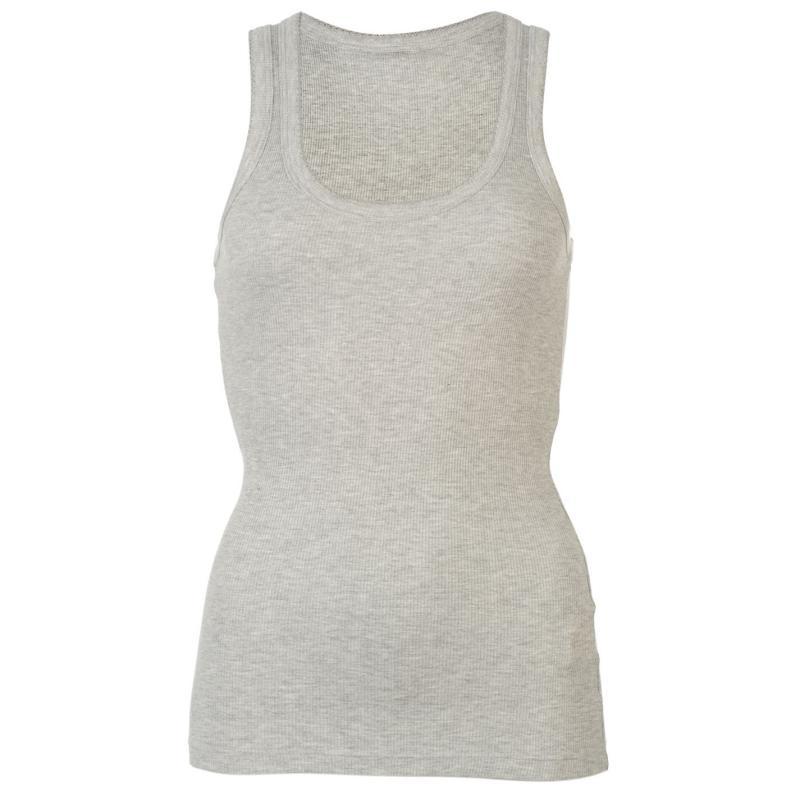 Miso Ribbed Vest Womens Grey Marl