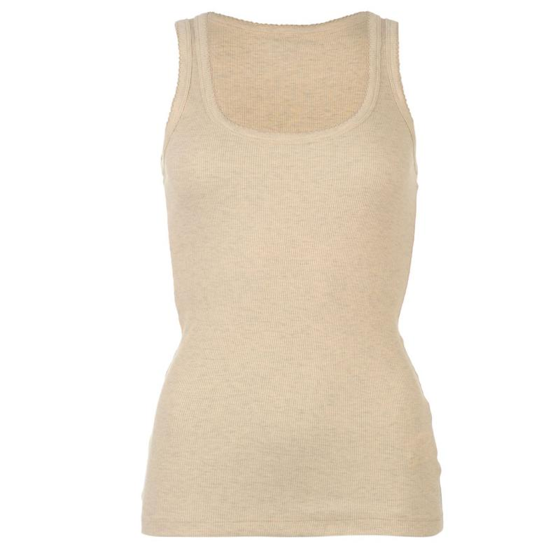 Miso Ribbed Vest Womens Beige Marl