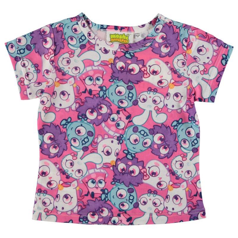 Character Short Sleeve T Shirt Infant Girls Moshi Monsters