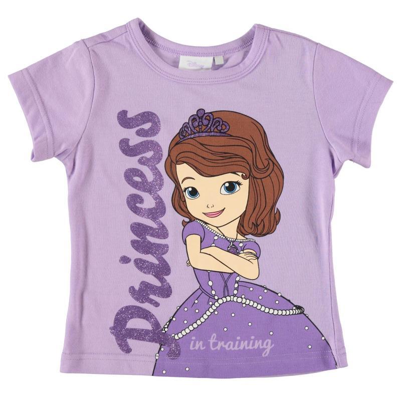 Character Short Sleeve T Shirt Infant Girls Disney Sofia