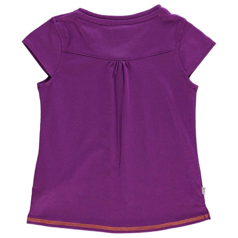 LA Gear V Neck T Shirt Junior Girls Pink