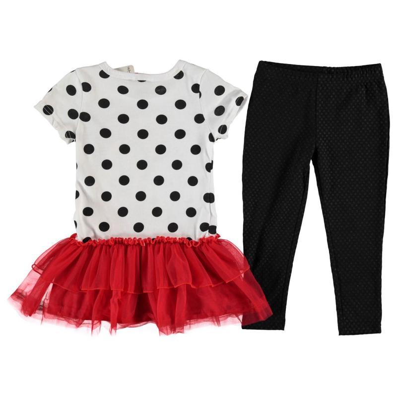 Šaty Disney Frill Dress Set Infant Girls Minnie