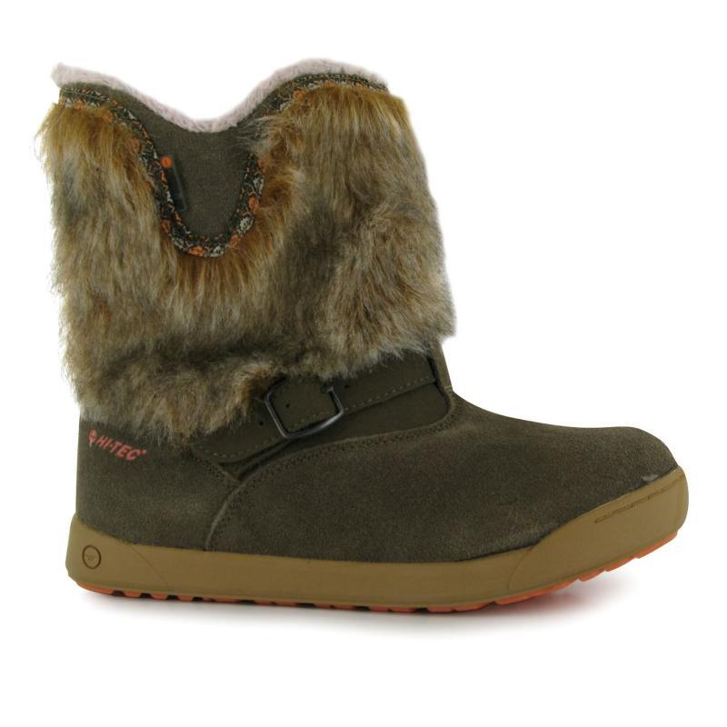 Hi Tec Prairie Boots Junior Girls Brown/Coral