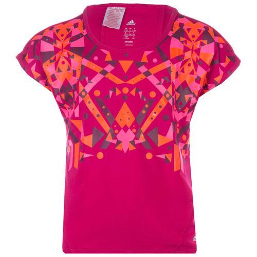 Adidas Infant Girls Woven T-Shirt Pink