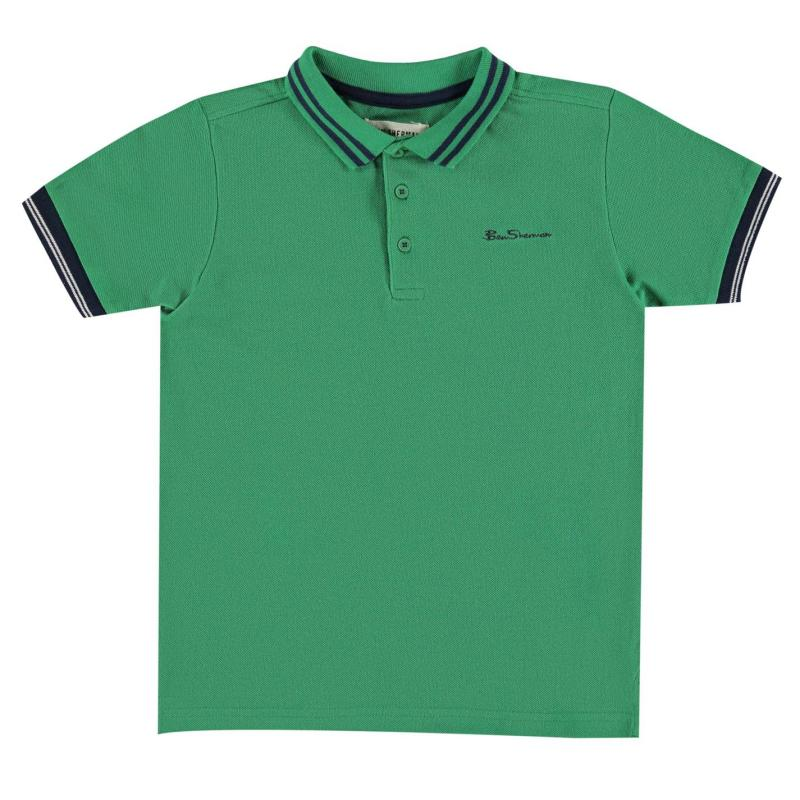 Ben Sherman 66V Polo Shirt Junior Boys Yellow
