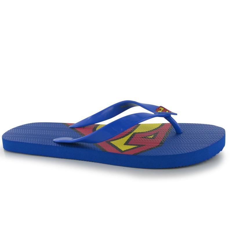 Boty Character Mens Flip Flops Superman