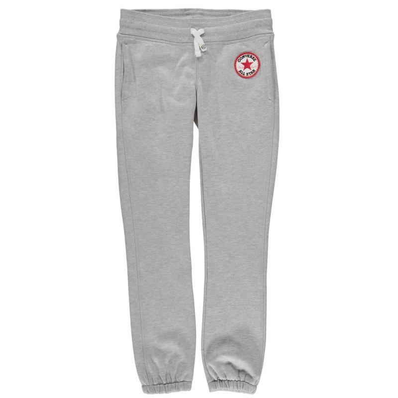 Converse 96 Fleece Bottoms Junior Girls Grey