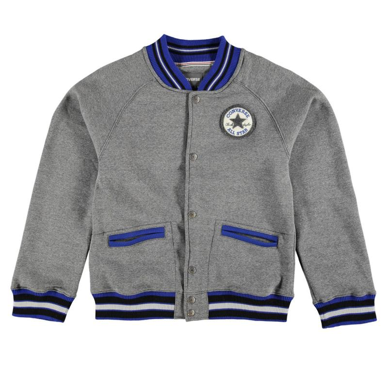 Bunda Converse Varsity Jacket Junior Blue