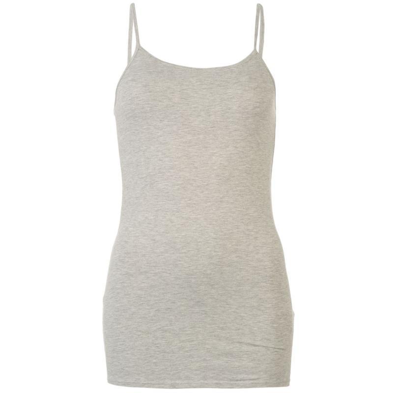 Miso Strap Vest Womens Grey Marl