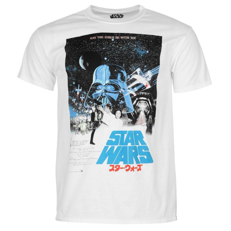 Tričko Star Wars Episode 7 T Shirt Mens Retro Poster