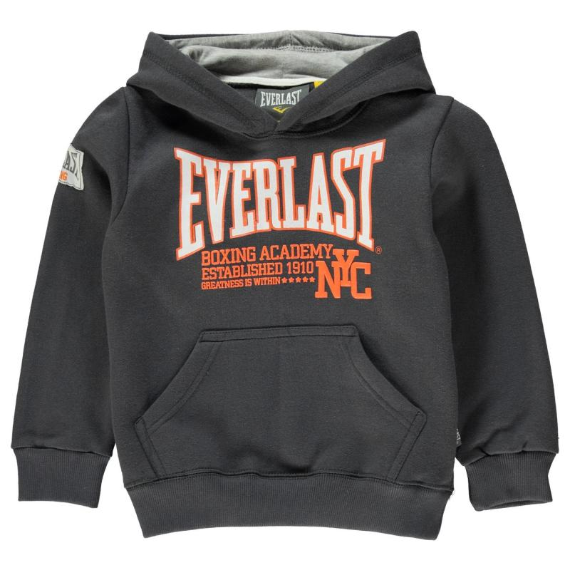 Mikina Everlast Over The Head Hoody Boys Charcoal