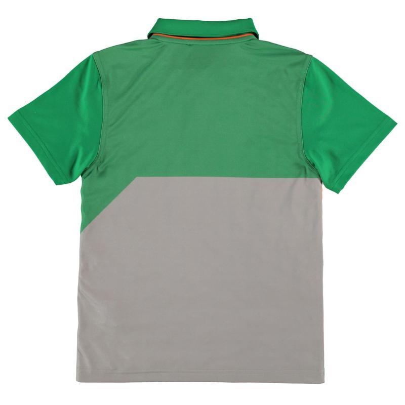 Slazenger Graphic Golf Polo Junior Boys Green