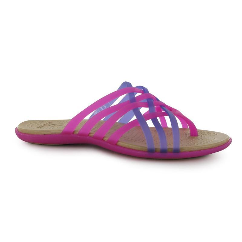 Crocs Huarache Flip Flops Girls Violet