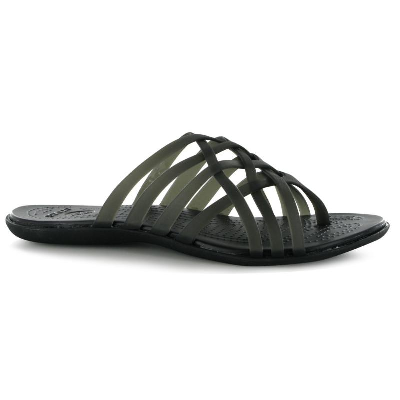 Crocs Huarache Flip Flops Ladies Black/Black