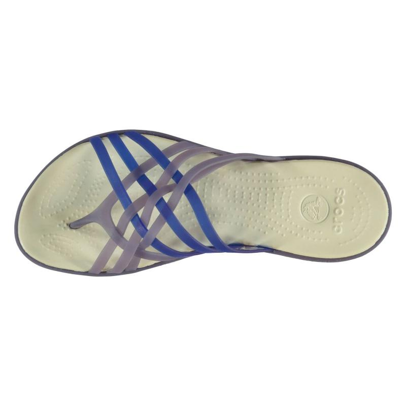 Crocs Huarache Flip Flops Ladies Navy/Blue