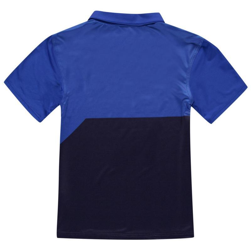 Slazenger Graphic Golf Polo Junior Boys Blue