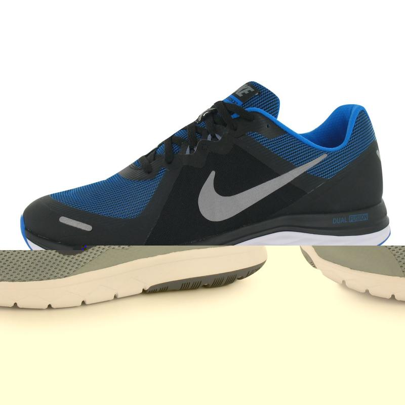 Nike Dual Fusion X Mens Trainers Black/Silv/Blue, Velikost: UK10 (euro 44)