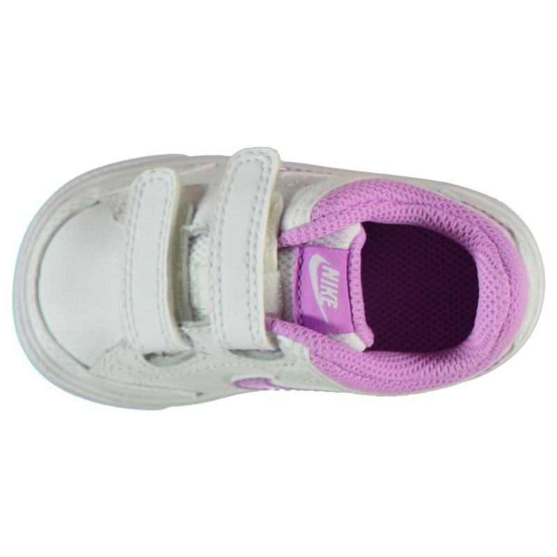 Nike Capri 3 Leather Infant Girls Trainers White/Fuchsia