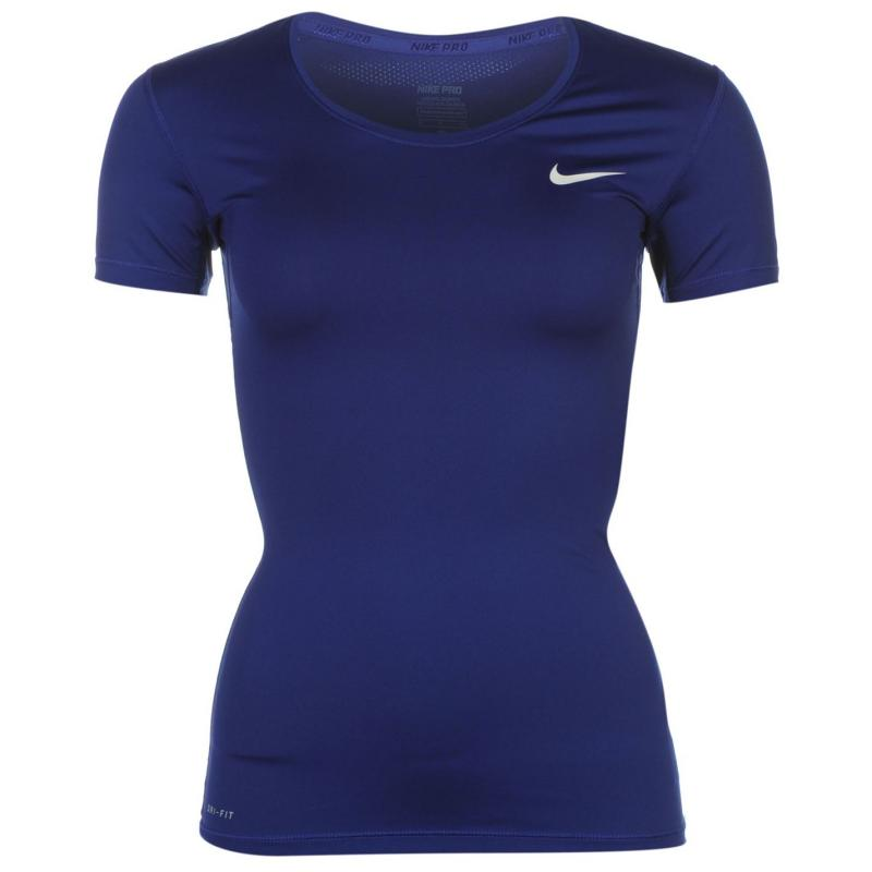 Nike Pro T Shirt Ladies Volt