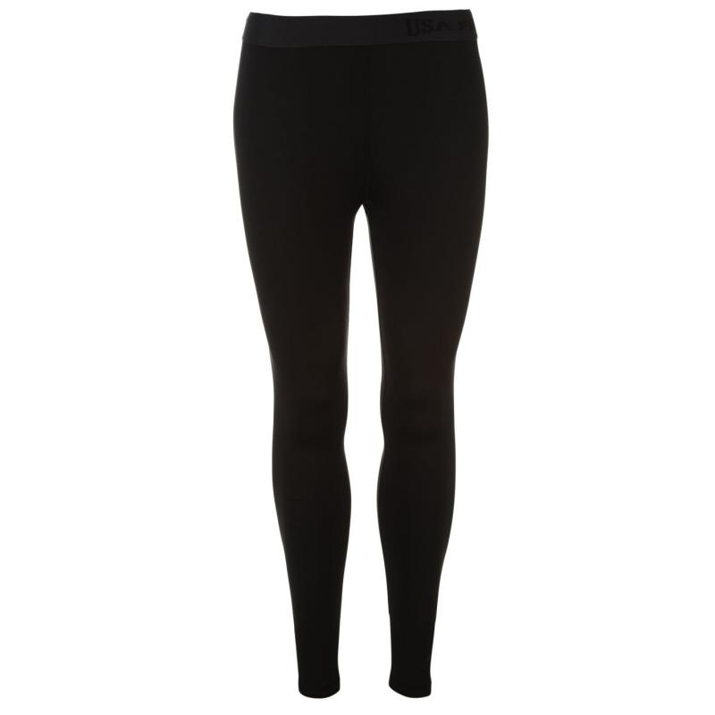 USA Pro Base Layer Tights Womens Black