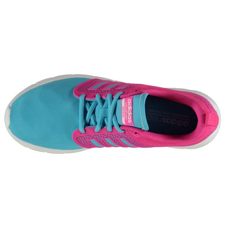 Boty adidas Cloudfoam Groove Children Trainers Cyan/Shock Pink