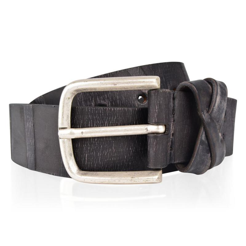 PEPE JEANS Leather Buckle Belt Brown