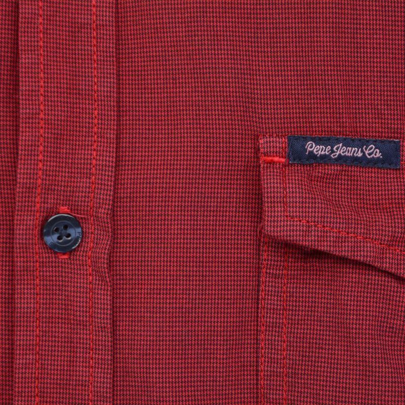 Košile Pepe Jeans Sleeved Check Shirt Red