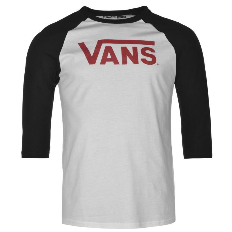 Tričko Vans Classic Mens Raglan Tshirt Black/White, Velikost: S