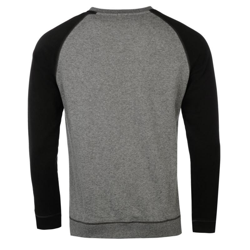 Mikina ONeill Crew Sweater Black/Grey, Velikost: S
