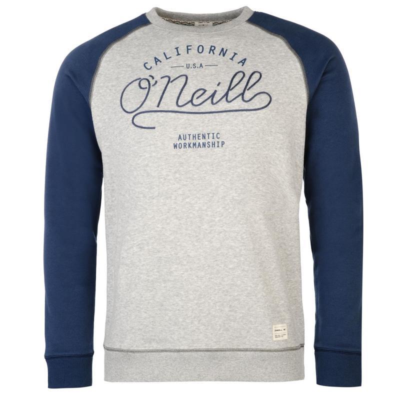 Mikina ONeill Crew Sweater Mens Blue/Grey