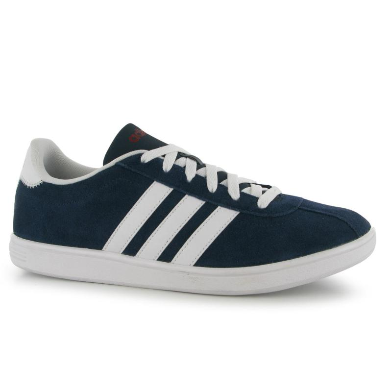Boty adidas VL Neo Court Suede Trainers Mens Navy/White, Velikost: UK6 (euro 39)