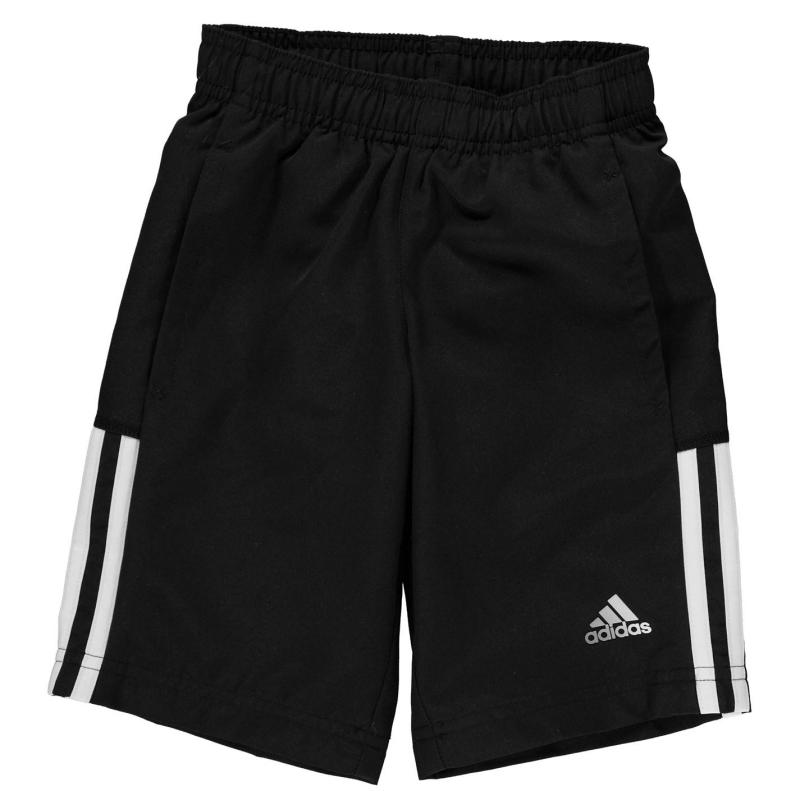 Kraťasy adidas 3 Stripe Woven Shorts Infant Boys Black/White