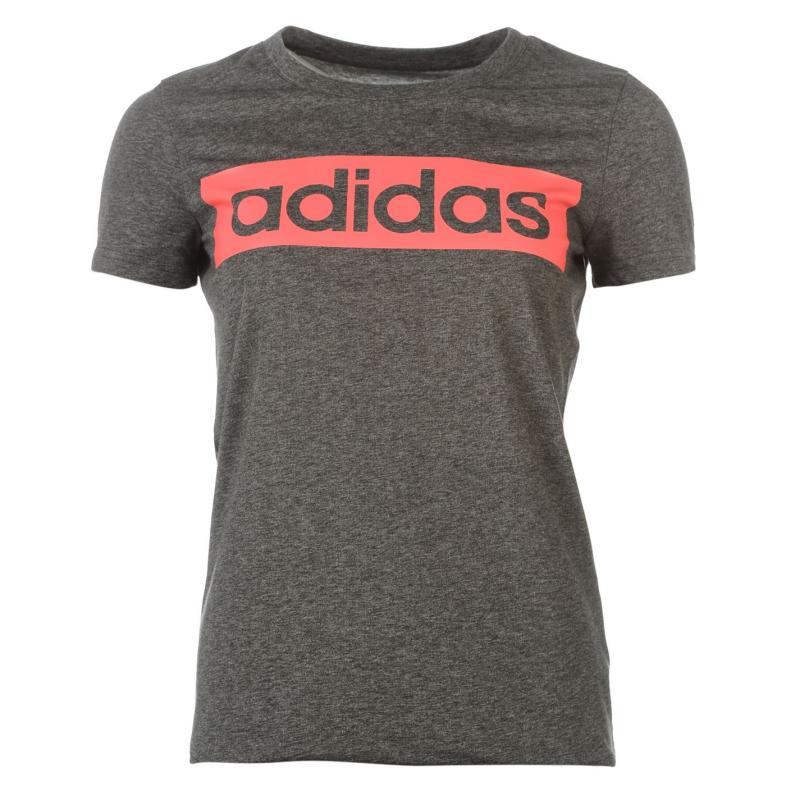 adidas Linear TShirt Womens SuperBlush