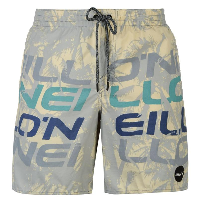 Plavky ONeill Stack Board Shorts Mens White, Velikost: XL