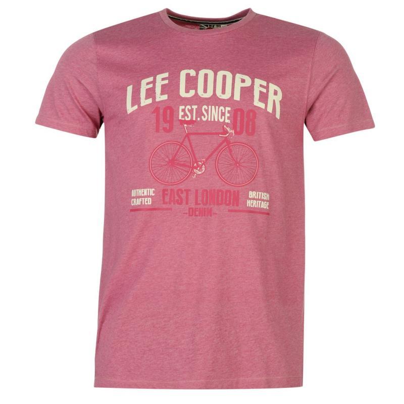 Tričko Lee Cooper Marl Retro Tshirt Mens Navy Marl