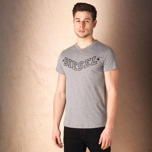 Tričko Diesel Mens T-Kritil S T-Shirt Charcoal Marl