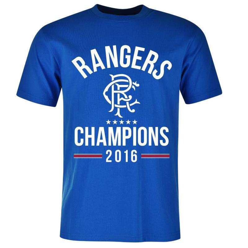 Tričko Rangers Champions T Shirt Junior Blue