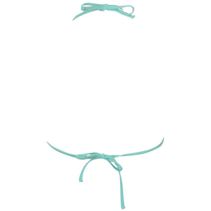 Plavky Miso Basic Halter Bikini Top Ladies Pool Blue Spot