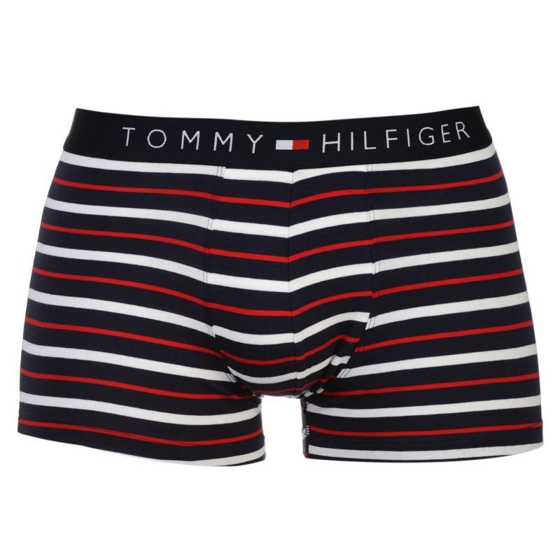 Spodní prádlo Tommy Hilfiger Stripe Trunk Blue Check