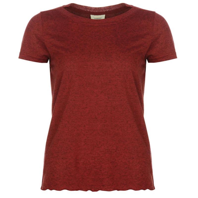 Vero Moda Loa Short Sleeve Womens Top Beet Red
