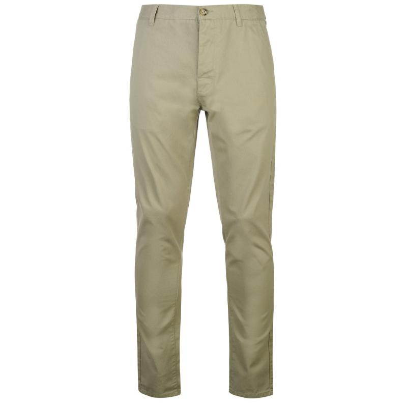 Kalhoty Kangol Chino Trousers Hedge Green