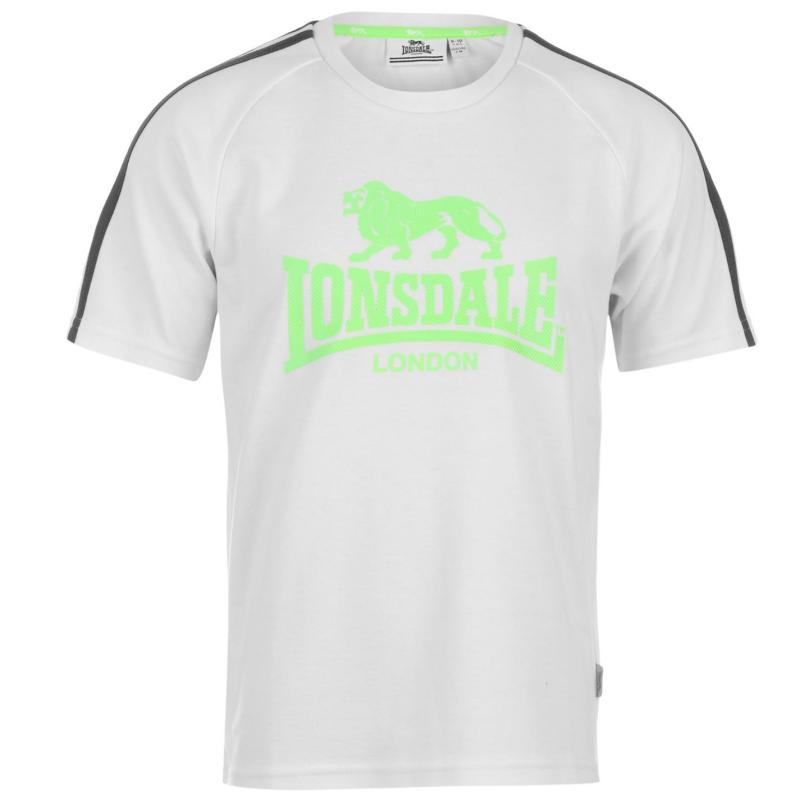 Tričko Lonsdale 2 Stripe Large Logo T Shirt Junior Boys...