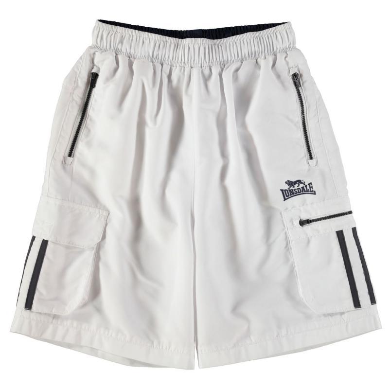 Kraťasy Lonsdale Cargo Shorts Junior White/Navy