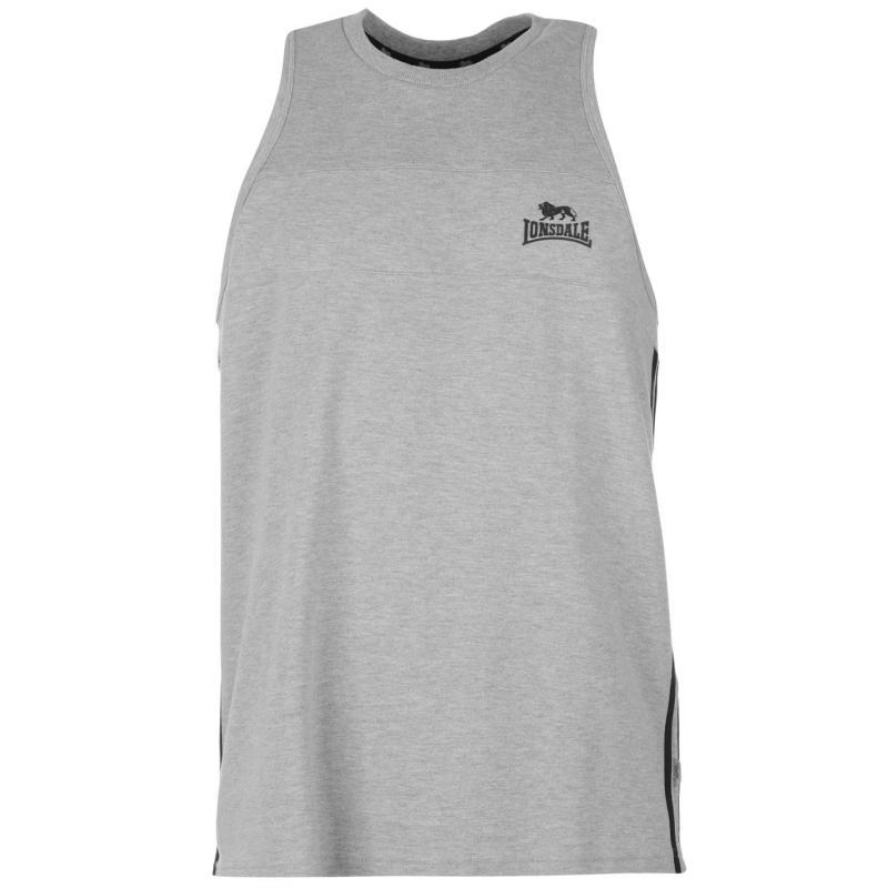 Tílko Lonsdale Two Stripe Muscle Vest Mens Black/White