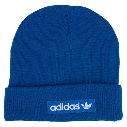 Adidas Originals Mens Woven Logo Beanie Blue