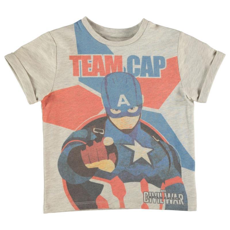 Tričko Marvel Civil War T Shirt Infant Boys Captain America