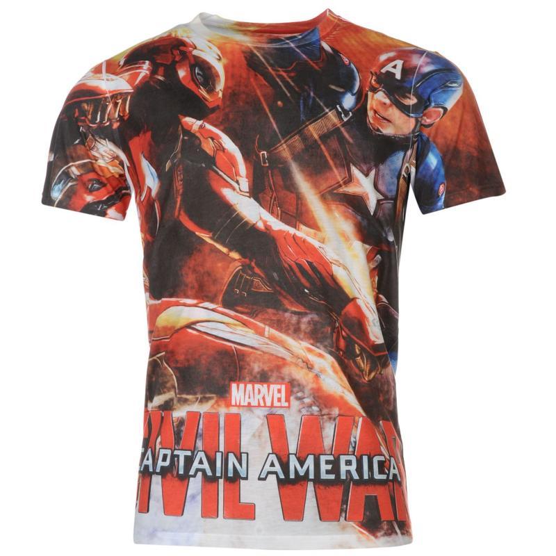 Tričko Marvel Civil War T Shirt Mens Captain America, Velikost: S