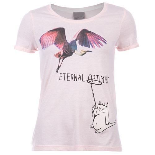 Vero Moda Womens Eternal Optimist T-Shirt Pink