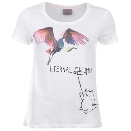 Vero Moda Womens Eternal Optimist T-Shirt White